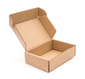 Brown box opened Royalty Free Stock Photo