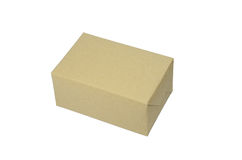 Brown box. On white background Royalty Free Stock Images