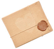 Brown Box With Sealing Wax Royalty Free Stock Photos