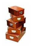 Brown boxes Royalty Free Stock Photography