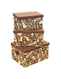 Brown boxes Royalty Free Stock Image