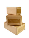 Brown boxes Stock Photos