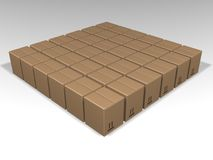 Brown boxes royalty free illustration
