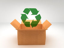 Brown boxes recycle Royalty Free Stock Image