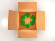 Brown boxes recycle Royalty Free Stock Photos