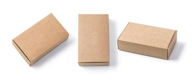 Brown boxes recycle isolated stock images