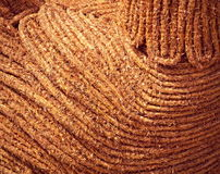 Brown braided straw Stock Images