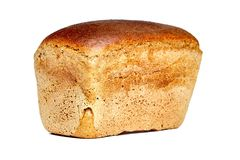 Brown a brassé le pain sous forme de brique photo stock