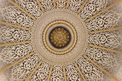 Brown and Brass Mandala Print Textile Stock Photography