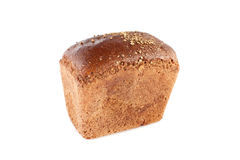 Brown bread. Isolated on white Royalty Free Stock Image