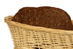 Brown Bread in Basket Royalty Free Stock Images