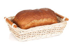 Brown bread in basket Royalty Free Stock Photos