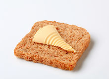 Brown bread and butter Stock Image