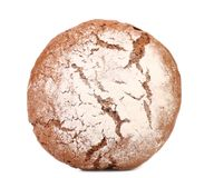 Brown bread dusted the flour. Royalty Free Stock Photography