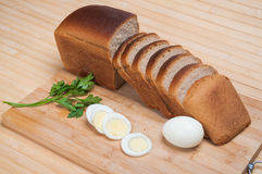 Brown bread and egg Stock Photo