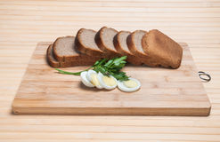 Brown bread and egg Royalty Free Stock Photography