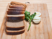Brown bread and egg Stock Image