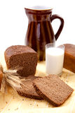 Brown bread with milk Royalty Free Stock Photo