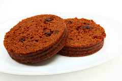 Brown Bread On Plate Royalty Free Stock Photo