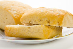 Brown bread rolls Stock Photo