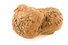 Brown bread rolls with grain Stock Photo