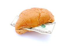 Money and food concept Stock Images