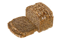 Brown bread with seeds Stock Photos