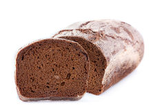 Brown bread with slice Stock Photo