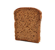 Brown bread slice isolated on white background Stock Images