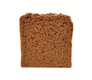Brown bread slice isolated on white background Royalty Free Stock Photos