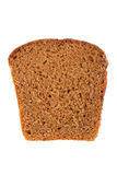 Brown bread slice isolated on white Royalty Free Stock Image