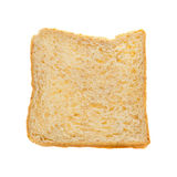 Brown bread slice on white background. Brown bread slice isolated on white background stock image
