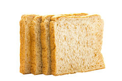 Brown bread slice on white background. Brown bread slice isolated on white background royalty free stock photo