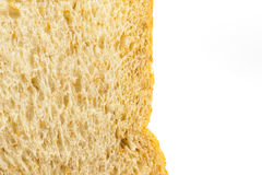 Brown bread slice on white background. Brown bread slice isolated on white background royalty free stock images
