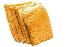 Brown bread slice on white background. Brown bread slice isolated on white background stock photos