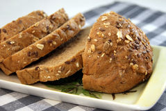 Brown bread slices Royalty Free Stock Photos