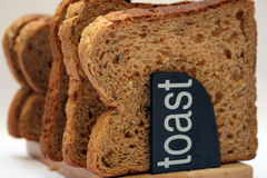 Brown bread slices Stock Images