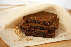 Brown bread slices Stock Image