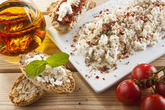 Brown Bread with Spread Royalty Free Stock Image