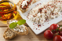 Brown Bread with Spread Royalty Free Stock Photo