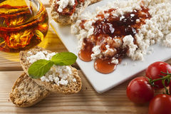 Brown Bread with Spread Stock Photography