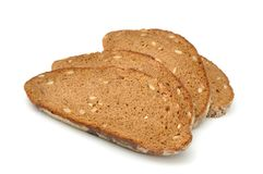 Brown Bread with Sunflower Seeds Royalty Free Stock Photos