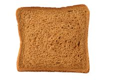 Brown bread toast. Isolated over white Stock Photography