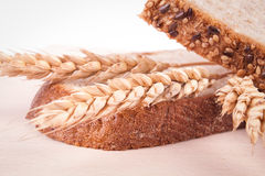 Brown bread & wheat Royalty Free Stock Images