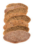 Brown bread on white Stock Photography