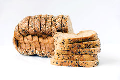 Brown bread. On white background Royalty Free Stock Image