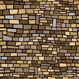 Brown Brick Background. Seamless, repeating background of brown irregular bricks Stock Photo