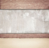 Brown brick and concrete wall background with Stock Images