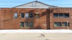 Brown brick industrial building Royalty Free Stock Image