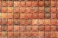 Brown brick pattern background Stock Image